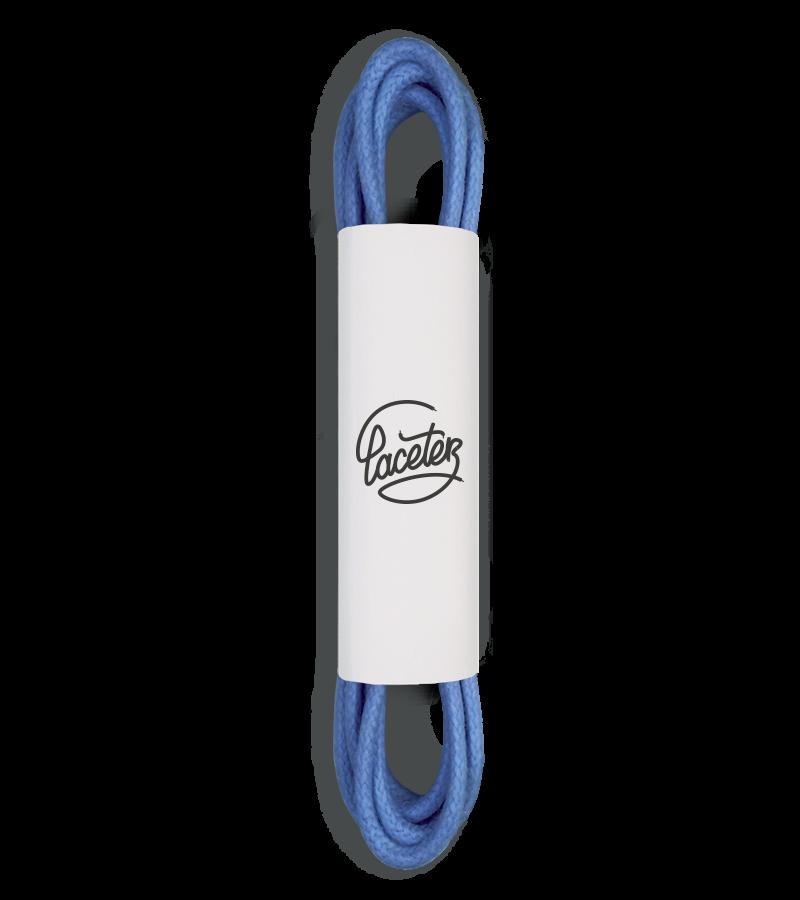 Lacets ronds et fins cirés, bleu myrtille - 1