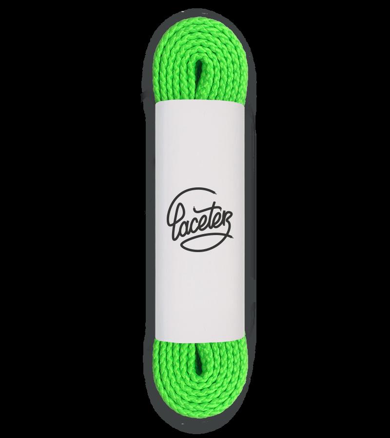 Lacets de sport, vert néon - 1