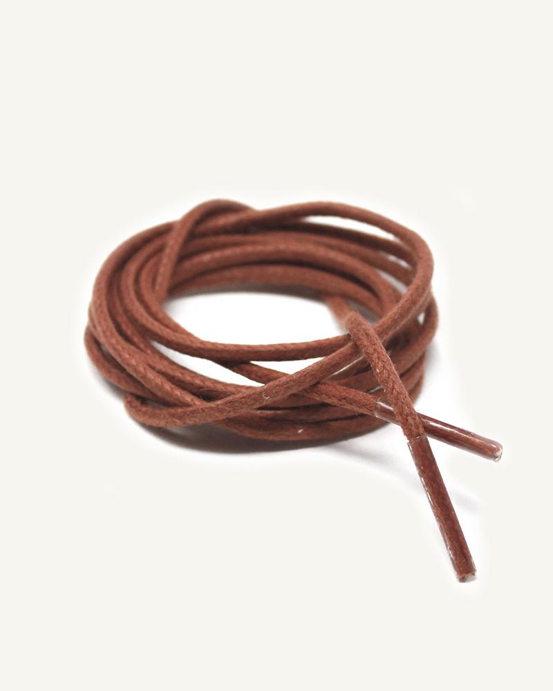 Lacets ronds et fins cirés, marron châtaigne - 3