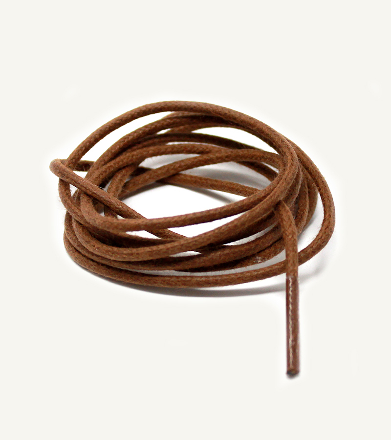 Lacets ronds et fins cirés, marron chocolat - 3