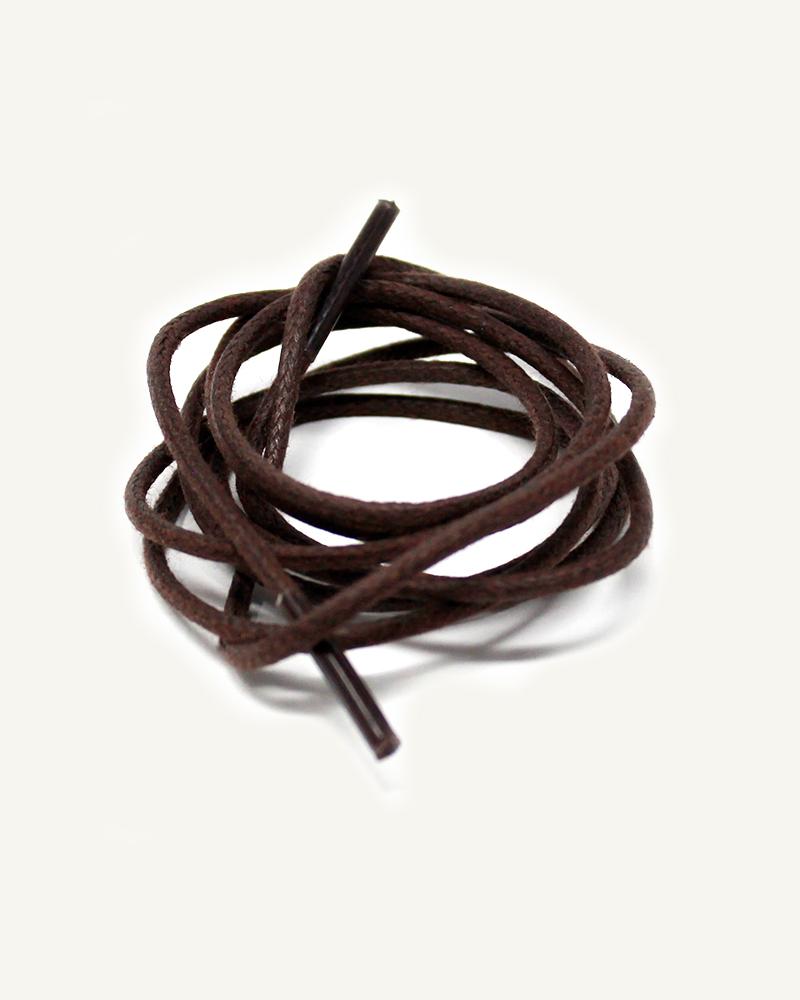 Lacets ronds et fins cirés, marron tabac - 3
