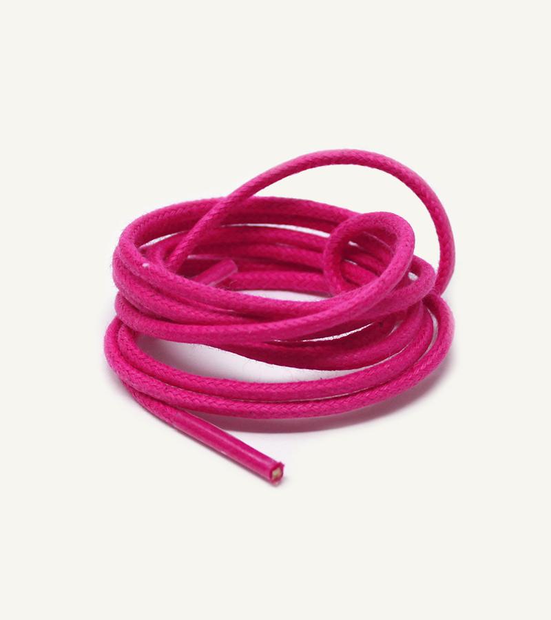 Lacets ronds et fins cirés, rose pivoine - 3