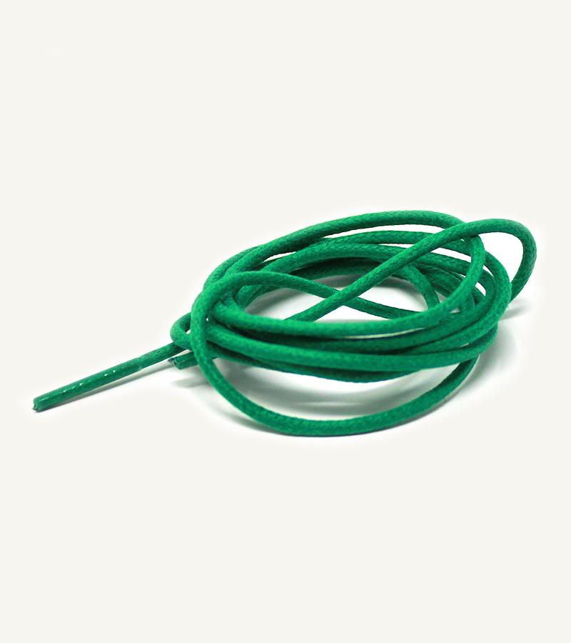 Lacets ronds et fins cirés, vert menthe - 3