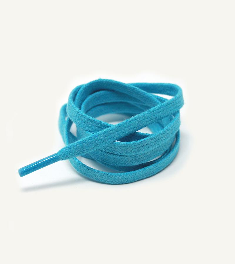 Lacets plats et larges, bleu caraïbe - 3