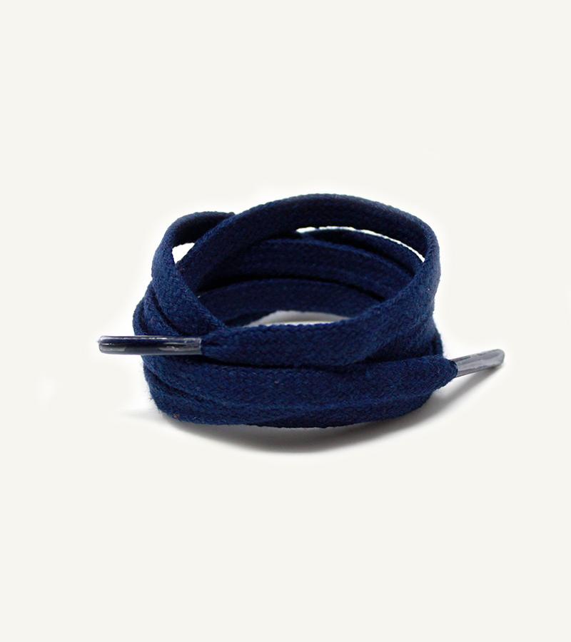 Lacets plats et larges, bleu cosmos - 3