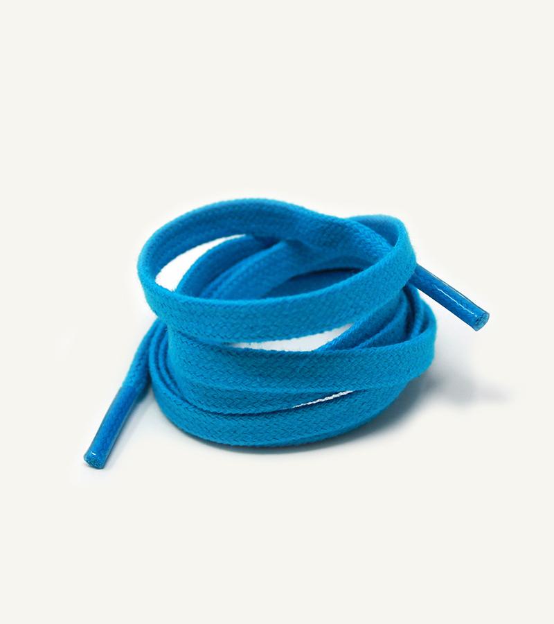 Lacets plats et larges, bleu perroquet - 3