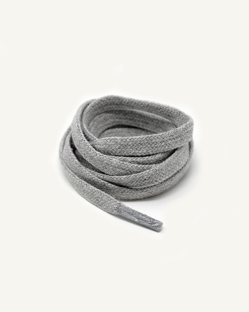 Lacets plats et larges, gris béton - 3