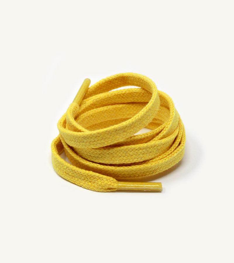 Lacets plats et larges, jaune poussin - 3