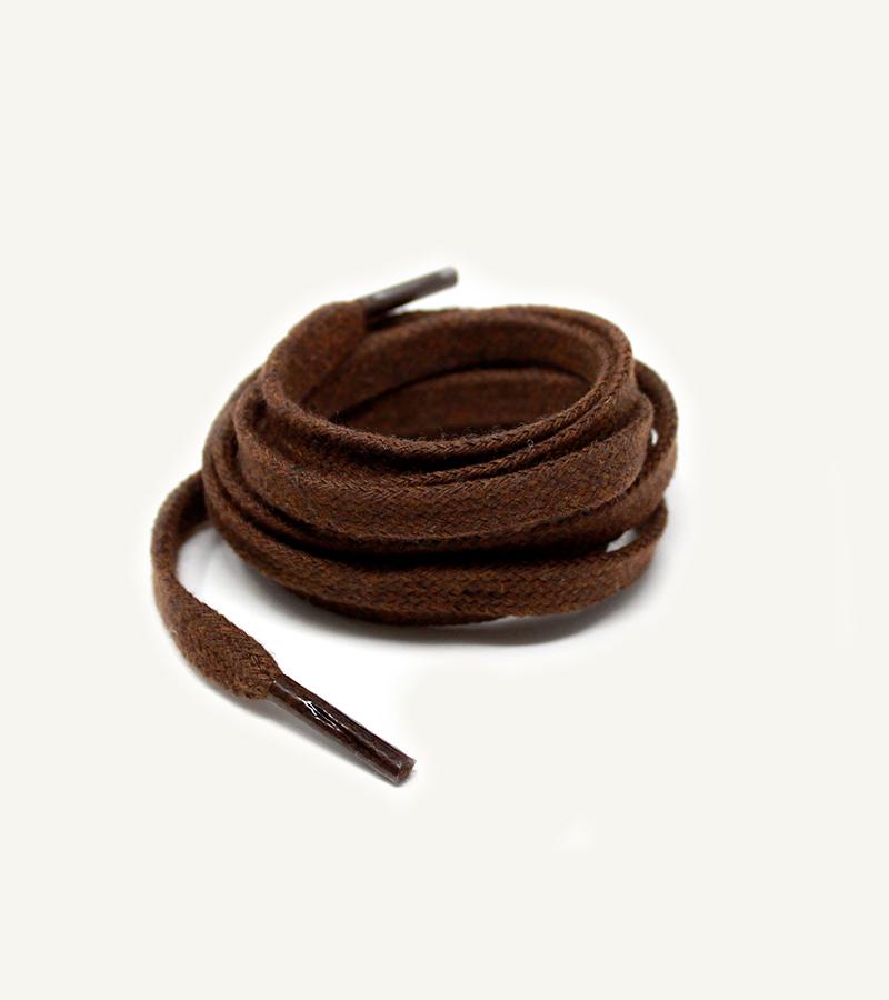 Lacets plats et larges, marron cacao - 3
