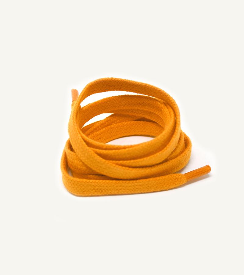Lacets plats et larges, orange sanguine - 3