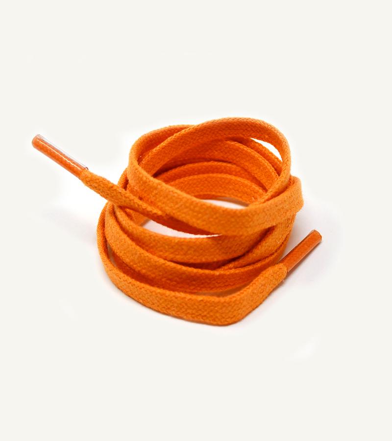 Lacets plats et larges, orange vésuve - 3