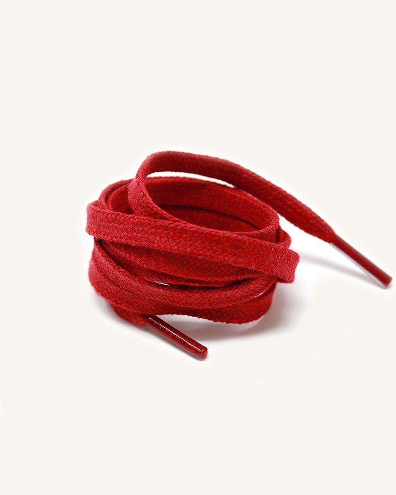 Lacets plats et larges, rouge raisin - 3