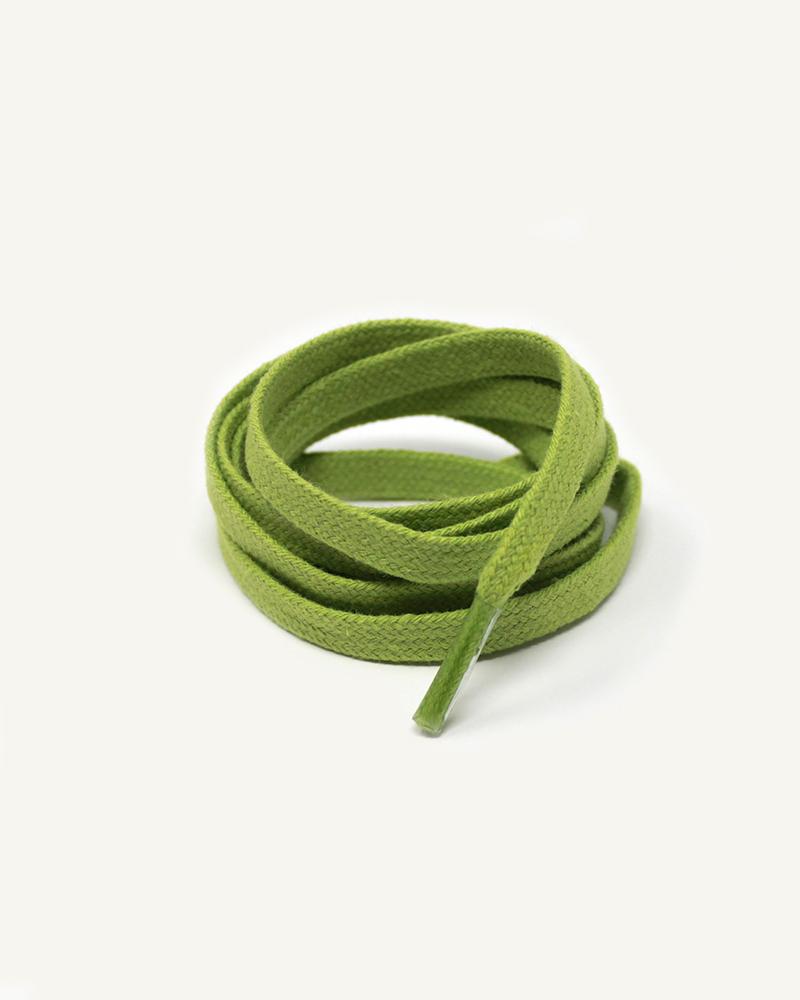 Lacets plats et larges, vert citron - 3