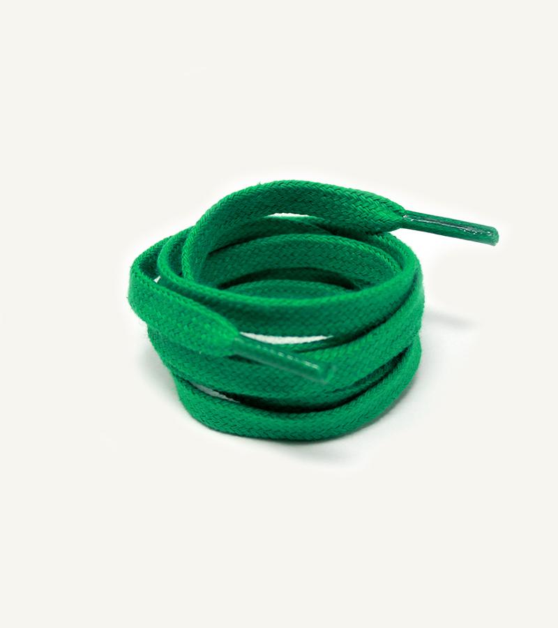 Lacets plats et larges, vert émeraude - 3