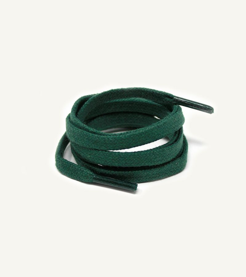Lacets plats et larges, vert sapin - 3