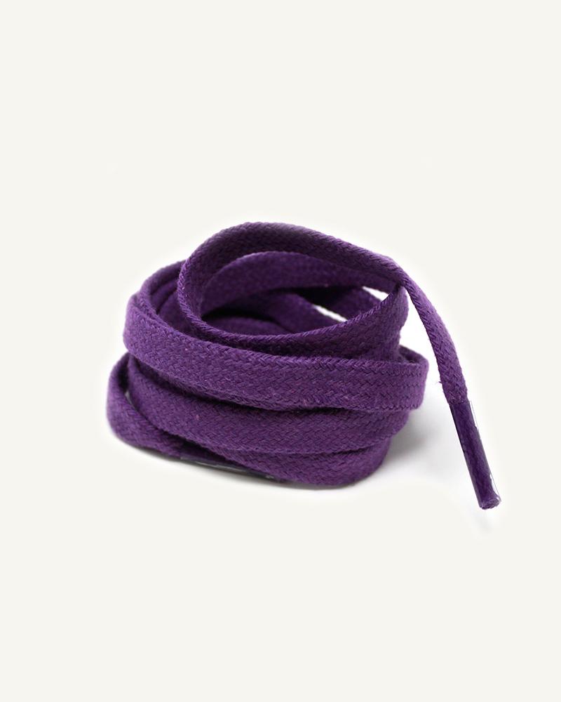 Lacets plats et larges, violet digital - 3