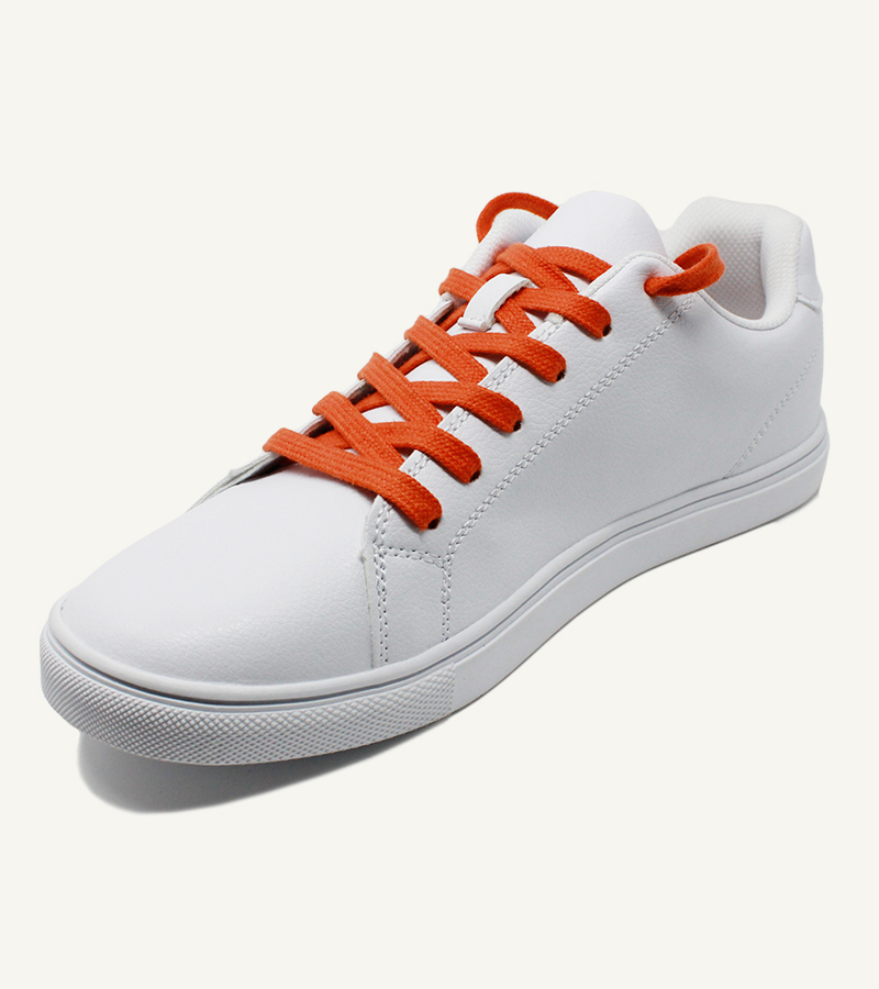 Lacets plats et larges, orange vésuve - 2