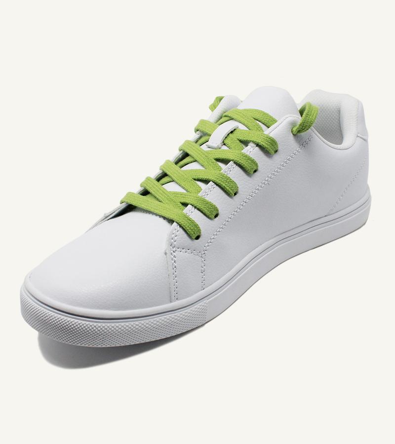 Lacets plats et larges, vert citron - 2