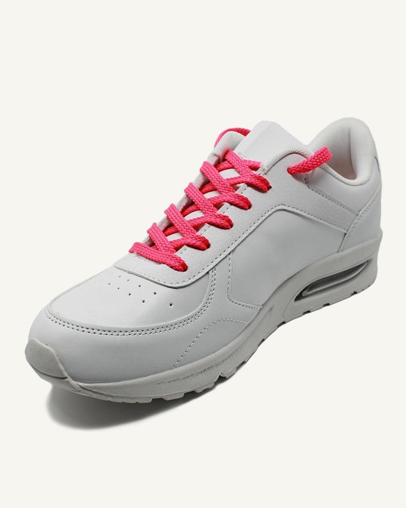 Lacets de sport, rose disco - 2