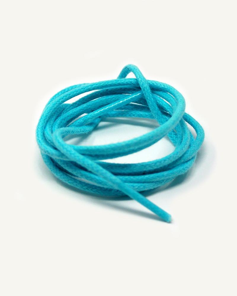 Lacets ronds et fins cirés, bleu caraïbe - 3