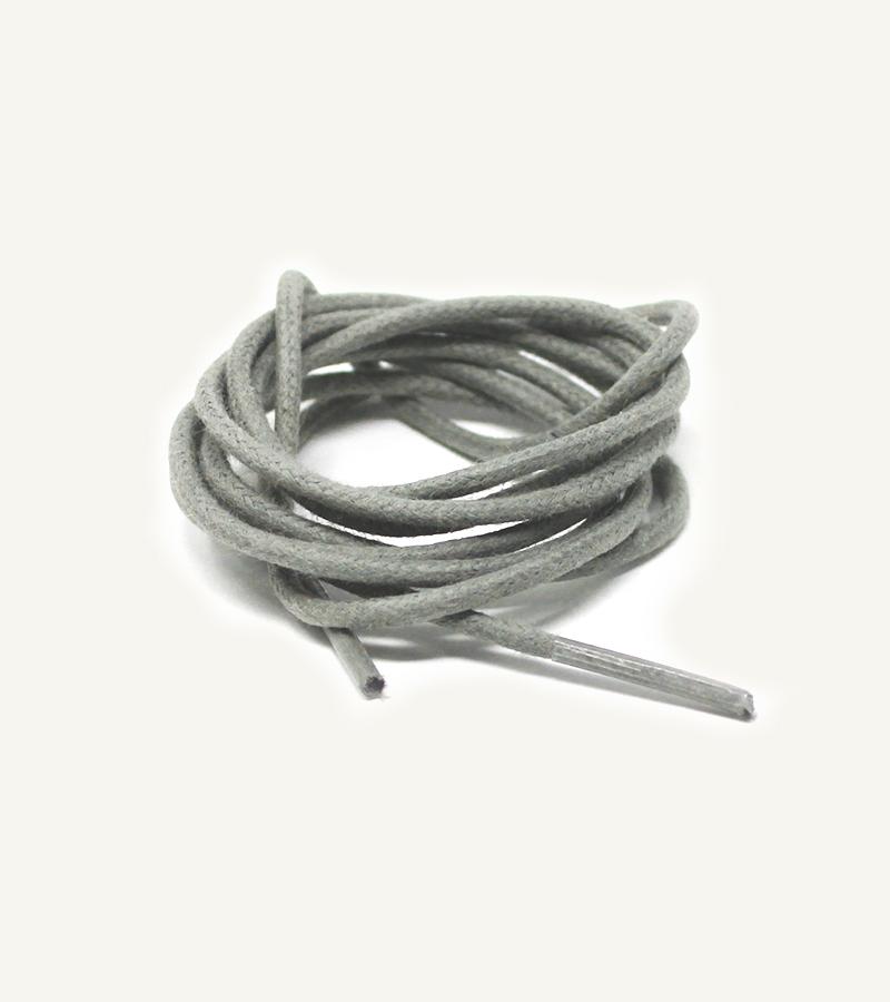 Lacets ronds et fins cirés, gris loup - 3