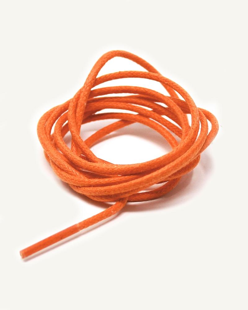 Lacets ronds et fins cirés, orange pressée - 3