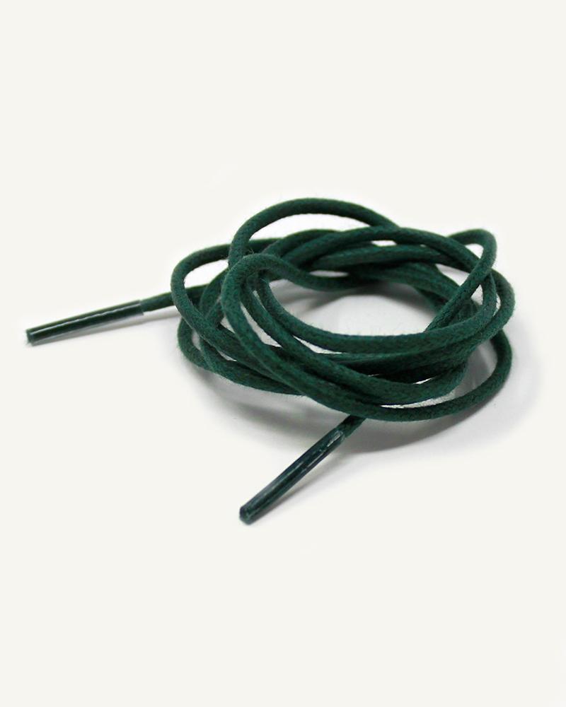 Lacets ronds et fins cirés, vert avocat - 3