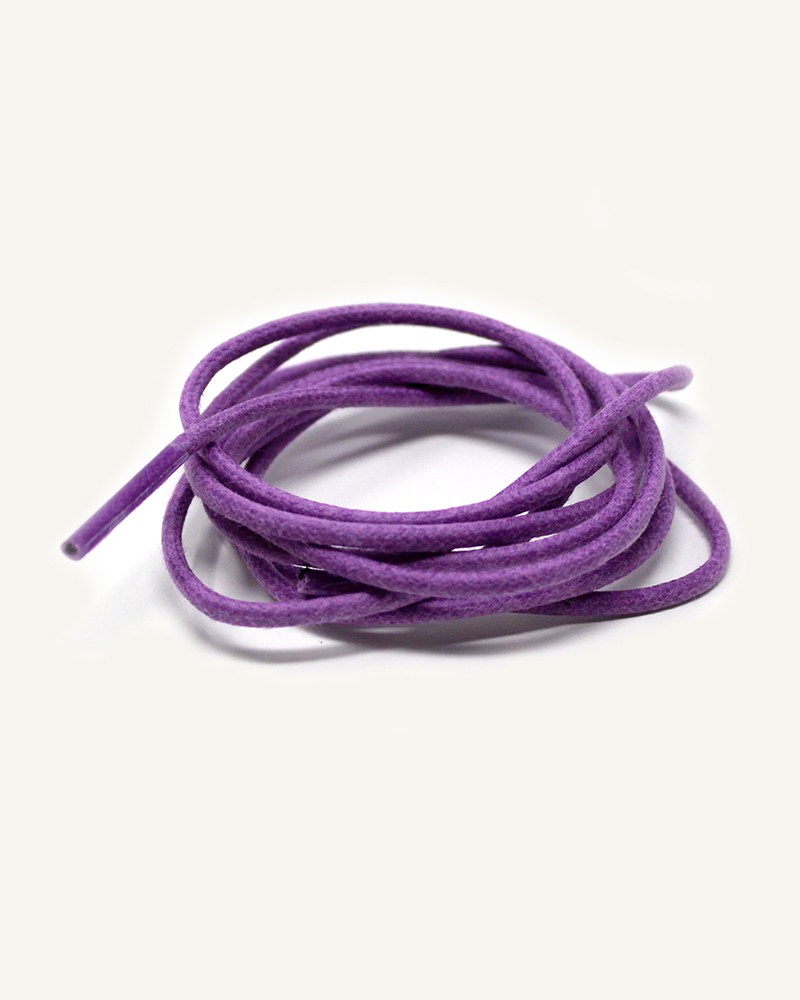 Lacets ronds et fins cirés, violet lilas - 3