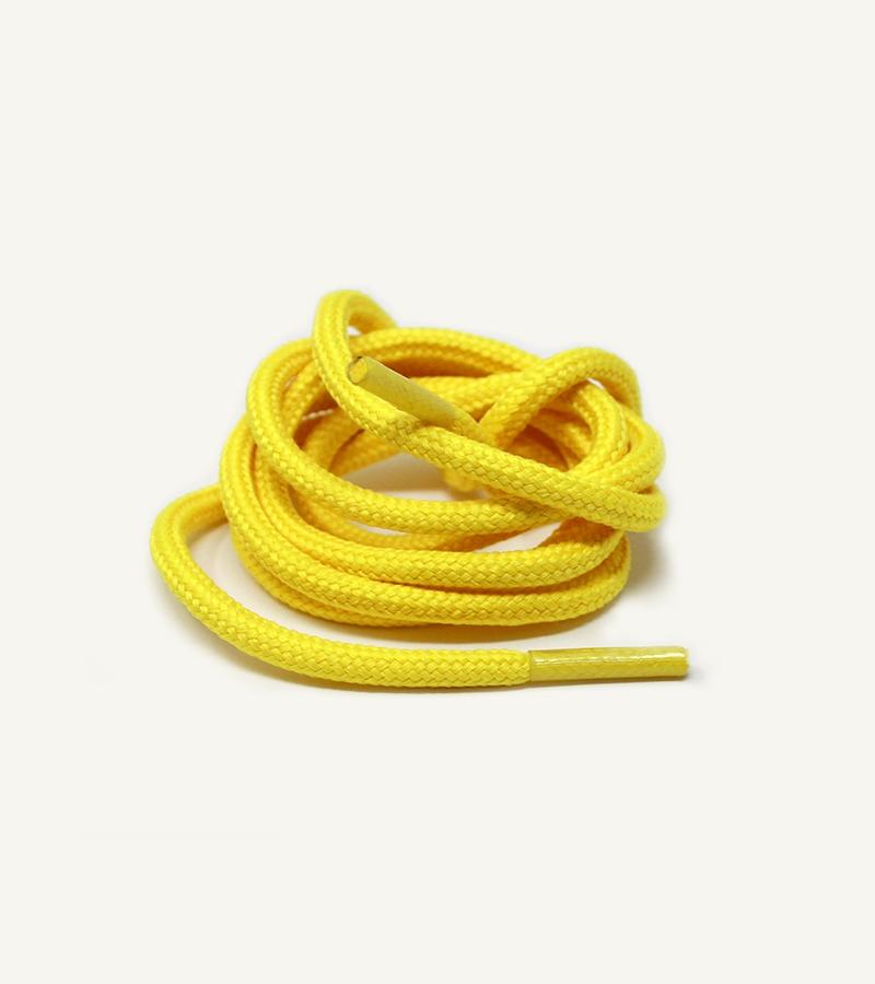 Lacets ronds et épais, jaune banane - 3