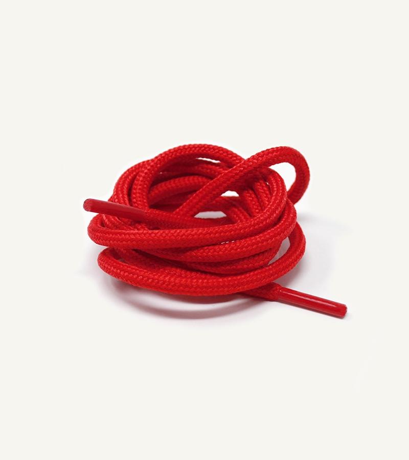 Lacets ronds et épais, rouge piment - 3